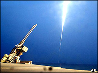 Tomahawk cruise missile being fired