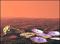 The Beagle 2 lander will be the first British-built craft to land on Mars (European Space Agency)