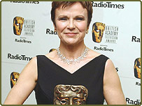 Julie Walters with her Best Actress Award for Murder at the British Academy Television Awards