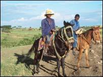 Farmers on horseback in Ethiopia