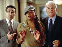 Eugene Levy, Queen Latifah and Steve Martin in Bringing Down the House
