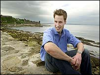 Prince William on the pier at St Andrews
