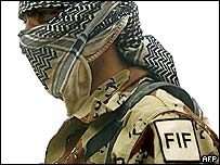 A member of the Free Iraqi Forces
