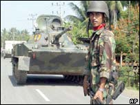 Indonesian soldier in Aceh