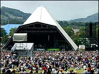 Pyramid Stage at Glastonbury 2002