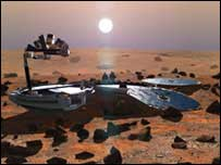 Artists impression of Beagle 2 on Mars, Beagle 2