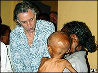 Geldof in Ethiopia in 2003