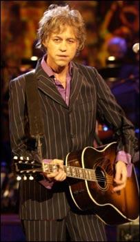 Bob Geldof with guitar