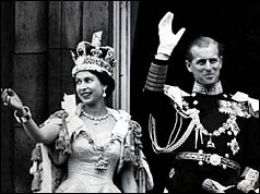 Queen Elizabeth II and her husband the Duke of Edinburgh