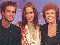 Big Brother's Alex Sibley, Tara Palmer-Tomkinson and Cilla Black