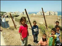 Children play in a camp for people left homeless by the earthquake, in Dellys about 90km (55 miles) east of Algiers