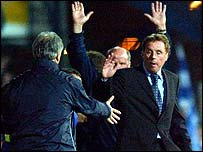 Harry Redknapp celebrates victory