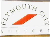 Plymouth City Airport sign
