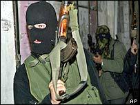 Palestinian militant in Gaza