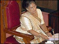 Sri Lankan President Chandrika Kumaratunga