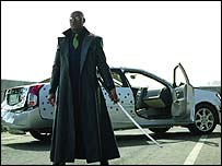 Laurence Fishburne in a scene from The Matrix Reloaded, Warner Bros