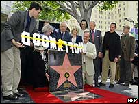 Hope was honoured on the Hollywood Walk of Fame
