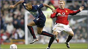 Thierry Henry and Paul Scholes play with great confidence
