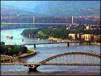 Novi Sad bridges before the war