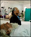 A patient is treated for dehydration in hospital north of Hyderabad