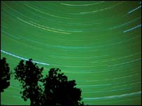 Time-lapse photograph of night sky, Eyewire