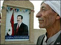 Saddam mural in Tikrit