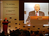 Singapore Senior Minister Lee Kuan Yew