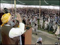 Rally led by Maulana Fazlur Rehman, head of Jamiat Ulema-e-Islam (JUI)