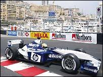 Ralf Schumacher pipped Kimi Raikkonen to pole