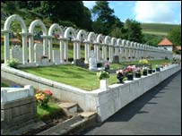 Graves at Aberfan Cemetery - picture courtesy of Freefoto.com