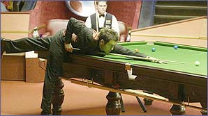 Ronnie in action at the world championships