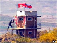 North Korean border post