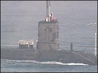 HMS Turbulent returns to Plymouth