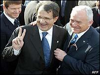 Romano Prodi and Leszek Miller