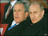 US President George W Bush and Russian President Vladimir Putin