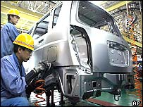 Chinese car workers