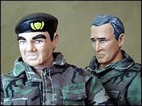 Mohammed Saeed al-Sahhaf and George W Bush dolls