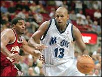 John Amaechi in action for the Orlando Magic