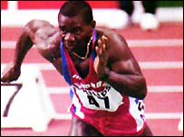Ben Johnson, who tested positive for steroids