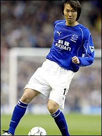 Everton midfielder Li Tie