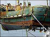 The ship was salvaged by the Japanese coastguard