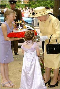 Louisa Harrington meets the Queen
