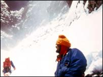 Chris Bonnington and Doug Scott on Everest in 1975 