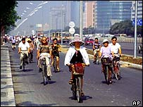 Cyclists in Beijing