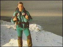 Terence Bannon at the summit of Mount Everest