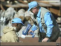 UN weapons inspectors in Iraq