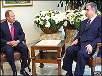 President Emile Lahoud and Prime Minister Rafik Hariri