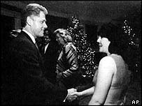 Bill Clinton and Monica Lewinsky in 1996