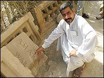 Graveyard keeper Hassan Hatif Moson