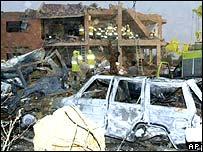 Al-Hamra compound in Riyadh after bomb attack